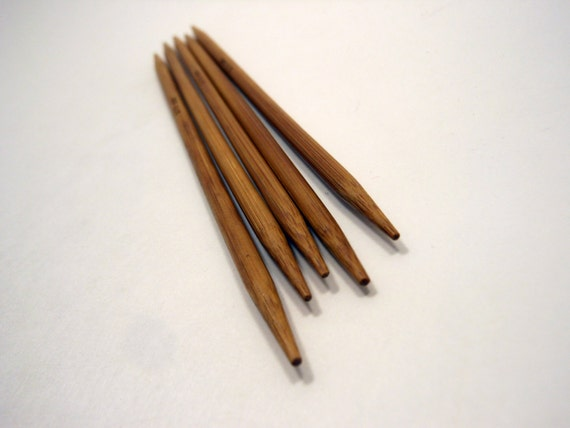Knitting Needles Mm To Us : Double pointed bamboo knitting needles sizes us metric