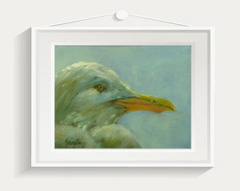 Bird Nursery, Wall Art, Bird painting, Seagull Painting,  Bird print, Beach decor, Nursery painting, art print, giclee print, oil paintings