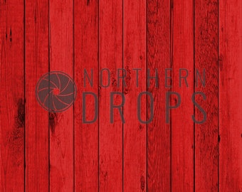 Product Photography Backdrop - BOARDS - RED - Printed wood board floordrop background, Red boards photo backdrop - Christmas holiday -3 size