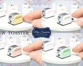 Toaster NEW COLLECTION - handmade Dollhouse 1:12 scale kitchen appliance