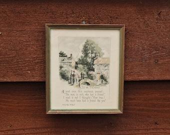 Antique Friend Motto Art, Vintage Buzza Motto Art - To A Friends, Buzza Company, Edgar Guest Writings
