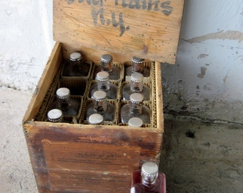 Antique Funeral Home Embalming CRATE Fluid Vintage, Autopsy, Embalming, Funeral, Morgue, Mortician, Post Mortem, Oddities
