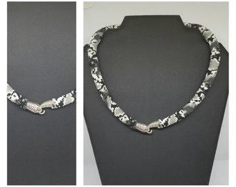 """Necklace """"Snake"""". Crochet beads"""