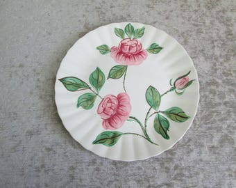 Blue Ridge Pottery Roses Dinner Plate/Colonial/Paper Roses/Rock Roses  #17158