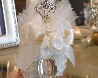 Almond favors Communion, wedding favors with sugar spoon, koufeta mementos, italian communion favors