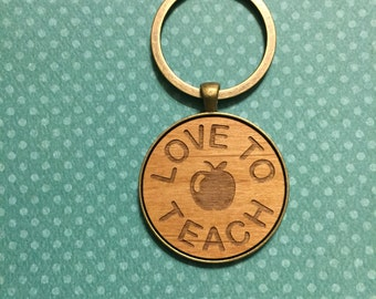Love to Teach Keychain