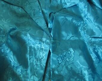 Vintage Satin Brocade Skirt Blouse Suit