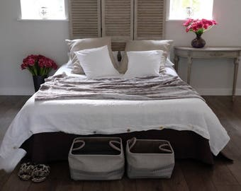Linen DUVET COVER, Stonewashed Linen Bedding, Linen Bedding. Queen Duvet Cover, King Duvet Cover. Hygge your home! WHITE