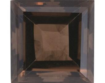 Brazilian Smoky Quartz Loose Gemstone Square Cut 1A Quality 15mm TGW 16.00 cts.