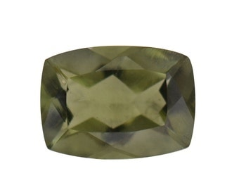 Moldavite Loose Gemstone Cushion Cut 1A Quality 7x5mm TGW 0.50 Cts.