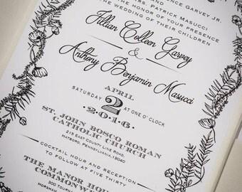 Magic Garden Custom Wedding Invitation & RSVP Card