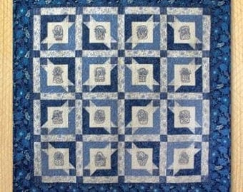 Farmhouse Fancy Hand Embroidery Quilt Pattern by Black Cat Creations