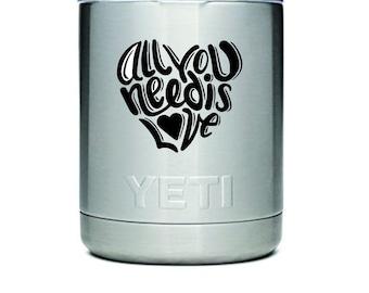 Custom Engraved YETI Stainless Steel Tumbler: 10oz