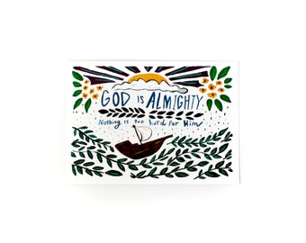 God is Almighty - 8 x 10 Print
