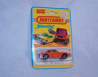 1976 Matchbox Superfast #45 BMW 3.0 CSL MOC Made in England