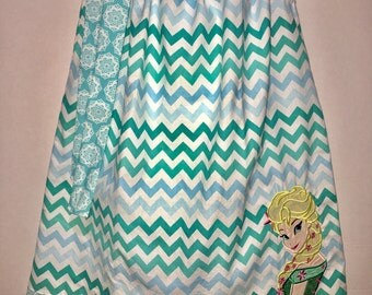 Queen Frozen Fever Elsa Sisters Flower Ice Boutique Birthday Party Pillowcase Summer Dress Girl Outfit! Toddler Baby Party Celebration Queen