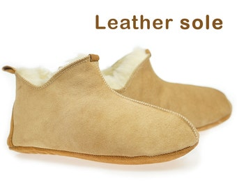 ON SALE !!! Women Natural Leather, Sheepskin Shearling Slippers, shoes boots Very light and comfy! Good gift! Genuine