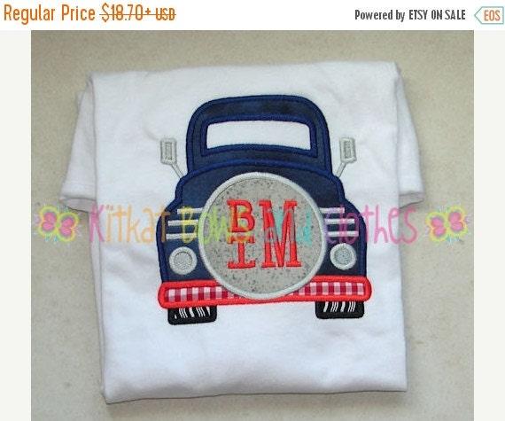 On sale boy vintage truck applique shirt by for Applique shirts for sale