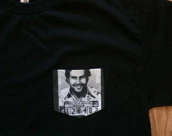 Pablo Escobar Narcos Mugshot Pocket Tee