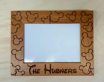 mickey and minnie mouse picture frame 5x7 custom disneyland disney world disney - Disney Picture Frame