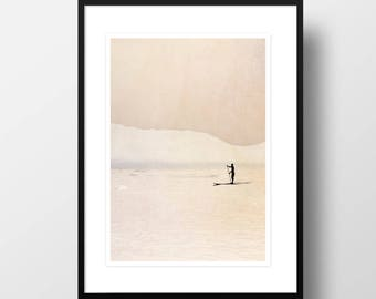 "Artprint ""Stand up paddling"""