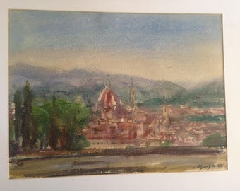 famouse israeli artist Yossef Kapelyan  watercololors