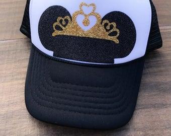 disney hat, disney trucker hat, disneyland hat, mickey hat, mickey ears, MINNIE MOUSE EARS, minnie mouse hat, mickey mouse hat, mouse ears