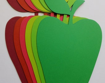 Red and Green Apple Scrap Booking Die Cut Out Embellishments