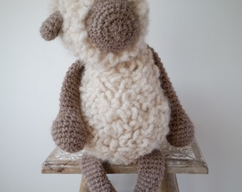 Barney the Sheep-Crochet Sheep-Knitted Toy-Soft Toy-Sheep Toy-Crochet Toy-Stuffed Toy-Natural Toy-Cuddly Toy-Baby Gift-Woolly Sheep-Nursery