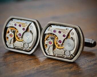 IWC Cufflinks International Watch Company Cufflinks Cuff Links Steampunk Vintage Wedding Groom Gift Mens Gift Christmas Present Watch