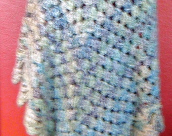 Painterly Color Poncho