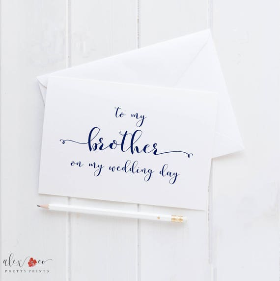 To My Brother Wedding Card For