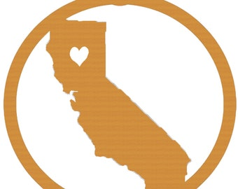 California State Wooden Christmas Tree Ornament