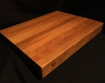 Cherry Wood Cutting Board, Smith Custom Woodworks, 12 x 18 x 1.5 inch | Chopping Board | Carving Board | Handmade Edge Grain