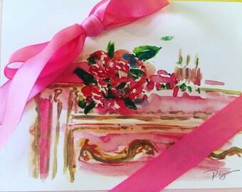 Pink Dresser Note Cards