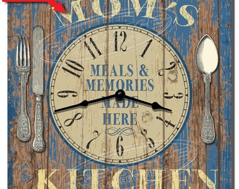 Mom's Kitchen Personalized Wall Clock