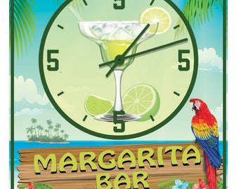 Personalized Margarita Bar Always Five O'clock Wall Clock