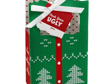 Ugly Sweater - Favor Boxes - Holiday Party Supplies - Set of 12