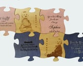 """Wood Puzzle wall art personalized and engraved 5"""" x 5"""""""