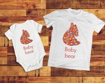 Sibling outfits, sibling shirts, Baby bear onesie, Baby bear outfit, Kids matching outfits, Superhero shirt, Baby bear Shirt, bear tshirt,
