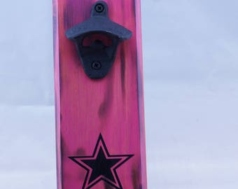 Dallas Cowboys Bottle Opener Pink
