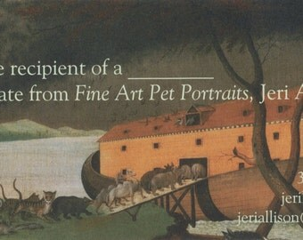 Gift Certificate, Custom Pet Portrait 8x10 Pencil, Pastel or Colored Pencil Drawing