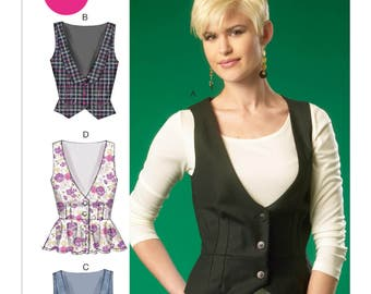 McCall's Sewing Pattern M7023 Misses' Low-Cut Vests