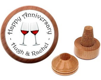 Cork stopper. Personalized Anniversary gift for couple. Anniversary gift idea. Wedding anniversary gift for parents, couple