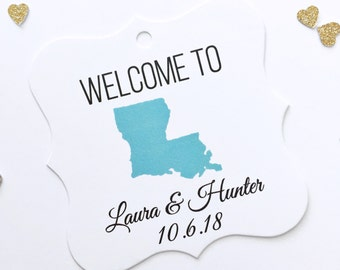 Destination Wedding Tags, Welcome To Tags, Welcome Bag Tags, Wedding Welcome Bag Tags  (FS-050)