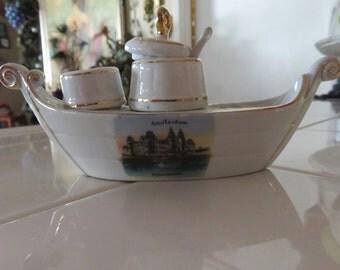 Rare Vintage Amsterdam Boat Tea Maker