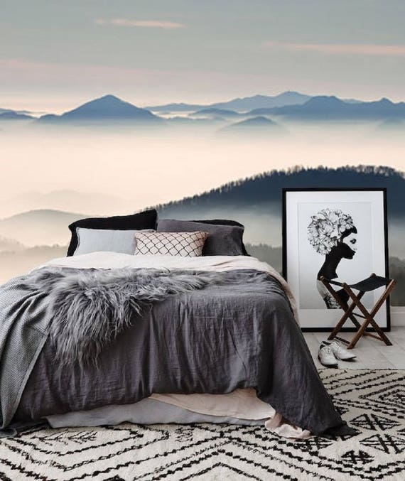 wald tapete baum wandbild wald wandbild natur mystik wald. Black Bedroom Furniture Sets. Home Design Ideas