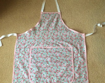 Hand made floral apron
