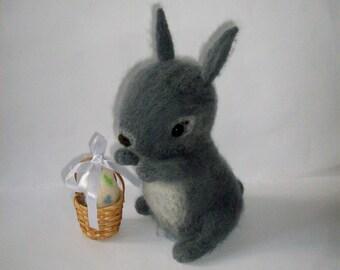 felt bunny, felt egg, easter bunny, easter gift