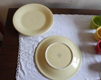 Fiestaware yellow dinner plates